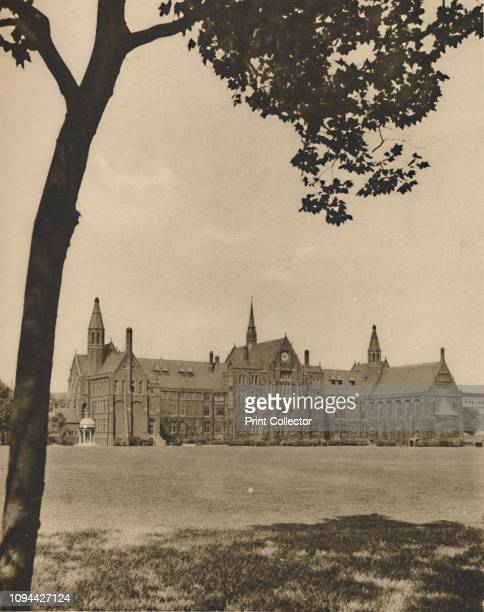 One of London's Public Schools St Paul's from the Playing Fields' circa 1935 View of St Paul's School at Hammersmith in west London The building...