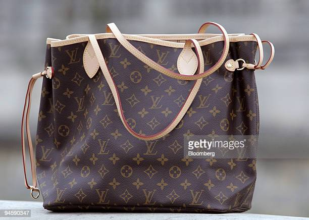 972bca6e2523 One of Louis Vuitton s Neverfull handbags sits on display in Paris France  on Monday Oct 15