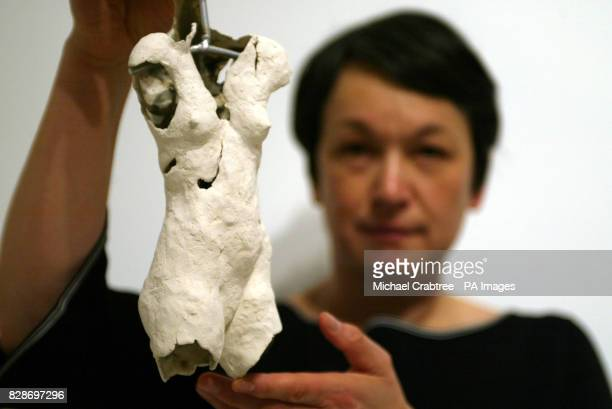 One of many ceramic torsos of anorexic bodies by Shelly Wilson is among the contemporary art works in 'Treat Yourself' a new Wellcome Trust...