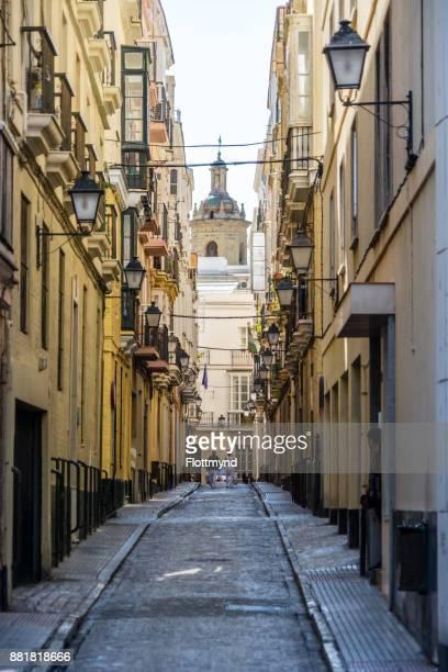 One of many small streets in Cádiz, Spain