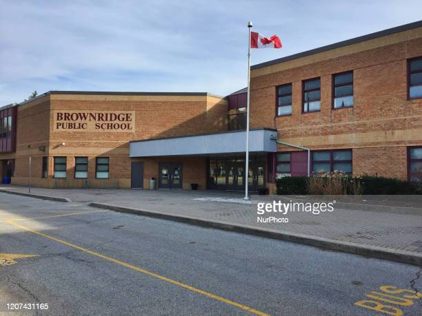 One of several closed schools due to the novel coronavirus in Toronto, Ontario, Canada on March 16, 2020. The province of Ontario announced yesterday...
