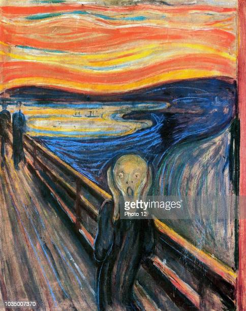 One of several versions of the painting 'The Scream' by the Norwegian artist Edvard Munch This work was produced c 1893