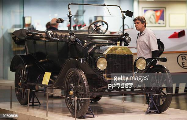 One of the 10 nominations for the greatest inventions of the century the Model T Ford is displayed at the Science Museum on November 4 2009 in London...
