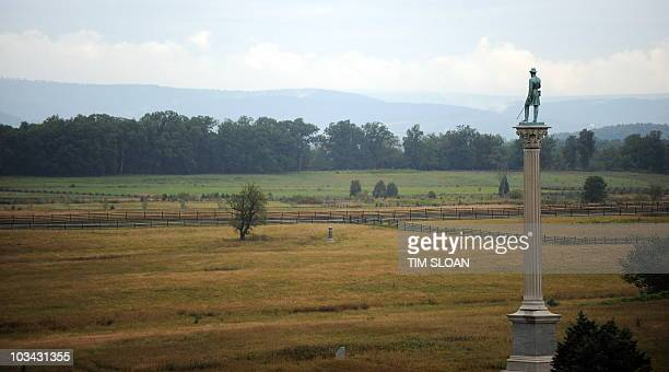 One of the 1200 memorials which dot this National Park along Cemetery Ridge where Pickett's Charge was repulsed on August 13 2010 at the Gettysburg...