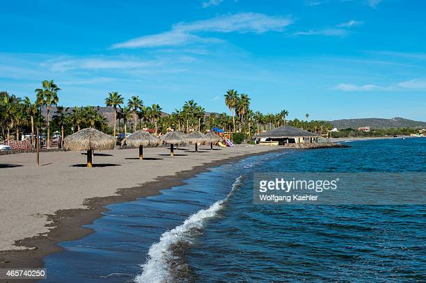 One of the beaches of the town of Loreto Sea of Cortez Baja California Mexico