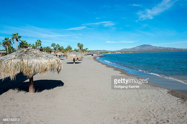 One of the beaches of the town of Loreto Sea of Cortez Baja California Mexico
