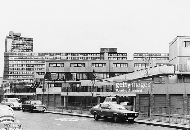 One of the blocks on the Aylesbury Estate in Walworth South East London 30th June 1975 Built in 1963 the housing estate is the largest in Europe