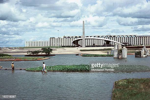 One of the buildings of Brasilia with a lake nearby Brasilia is one of the world capitals which was recently built It was built between 1956 and 1960...