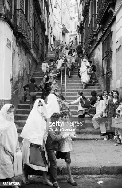 One of the busiest and most popular streets in the Casbah of Algiers.