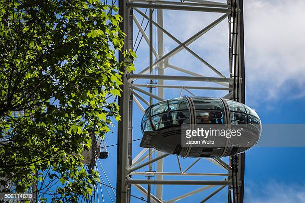 CONTENT] One of the capsules of the London Eye ferris wheel takes tourists high above the London skyline for a view over the city and surroundings...