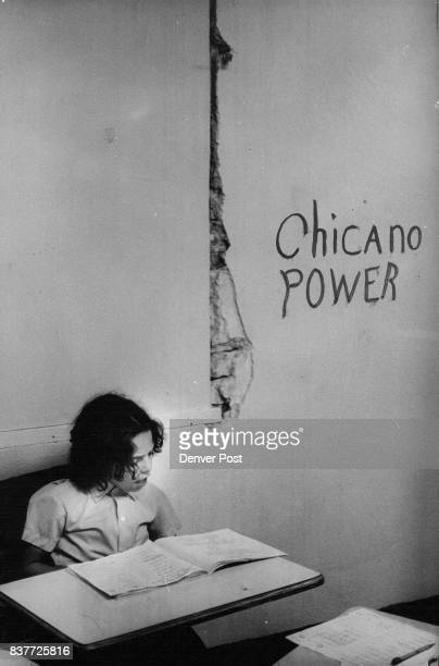 NOV 22 1972 NOV 28 1972 NOV 29 1972 one of the classrooms of Escuela Tlatelolco The Crack in the wall shows the condition of building where the...