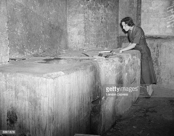 One of the communal washrooms at the Quinns Buildings housing estate in Bethnal Green London where a rent strike is underway in a bid to improve...