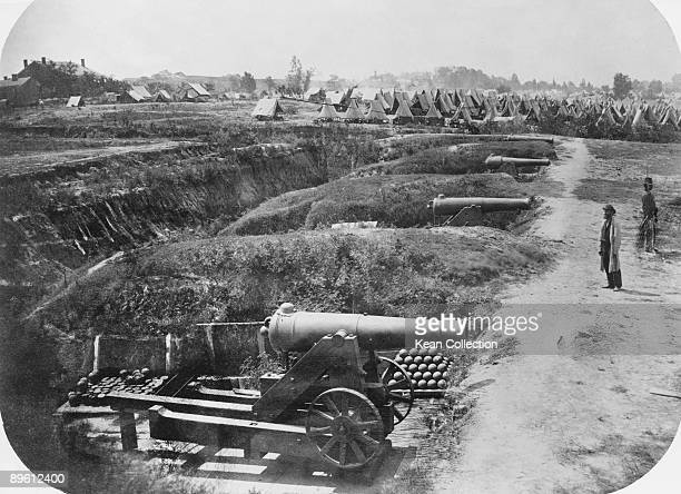 One of the Confederate batteries at Vicksburg in Warren County Mississippi during the Vicksburg Campaign of the American Civil War 1863 This fourgun...