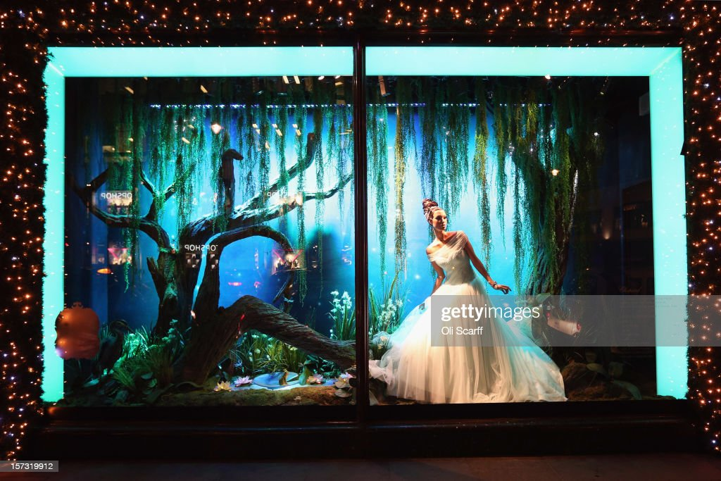 One of the decorated Christmas window displays in Harrods department store in Knightsbridge on November 29, 2012 in London, England. Many prominent retailers in the capital have produced elaborate festive window displays to entice Christmas shoppers with less than one calendar month remaining before Christmas Day.