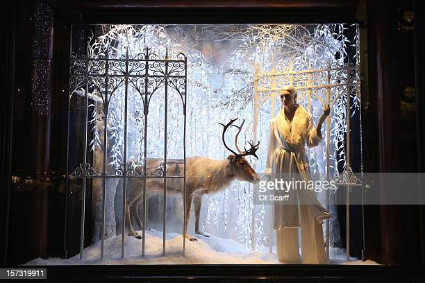 One of the decorated Christmas window displays in the Ralph Lauren shop on Bond Street on November 26 2012 in London England Many prominent retailers...