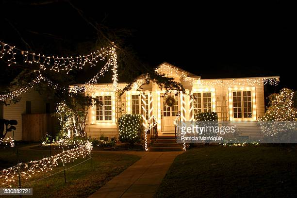 One of the decorated homes in the Henry T Oxnard National Historic District part of the annual Christmas Tree Lane event December 23 2014