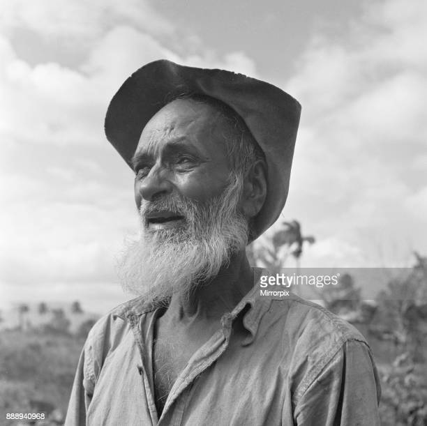 One of the descendants of indentured East Indian labourers brought to Trinidad in the mid 19th century to work in the sugar cane fields seen here...