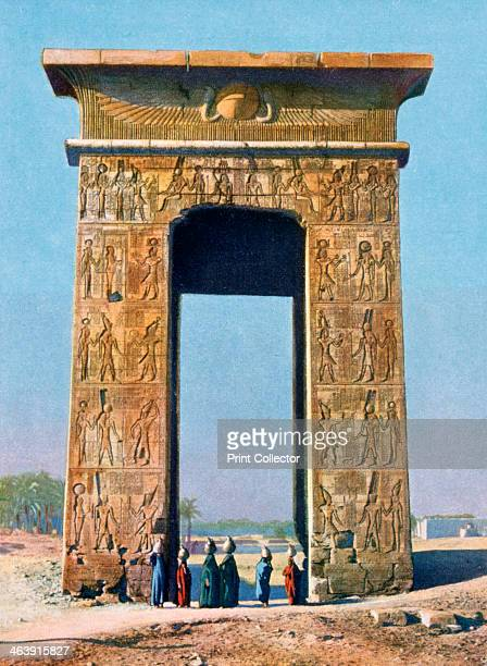 One of the doors of the Karnak Temple Luxor Egypt 20th century The gateway was built by Ptolemy III in the 3rd century BC although the temple itself...