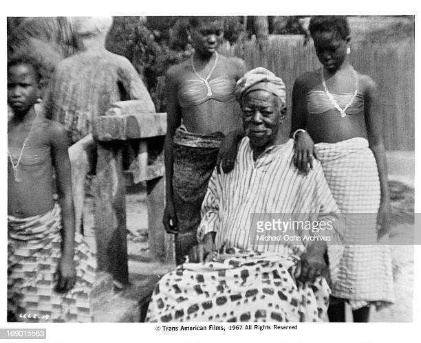 One of the elders of a tribe in a scene from the documentary film 'Macabro' 1967