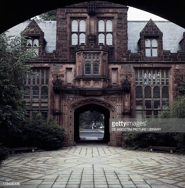 One of the entrance gates to Princeton University New Jersey United States