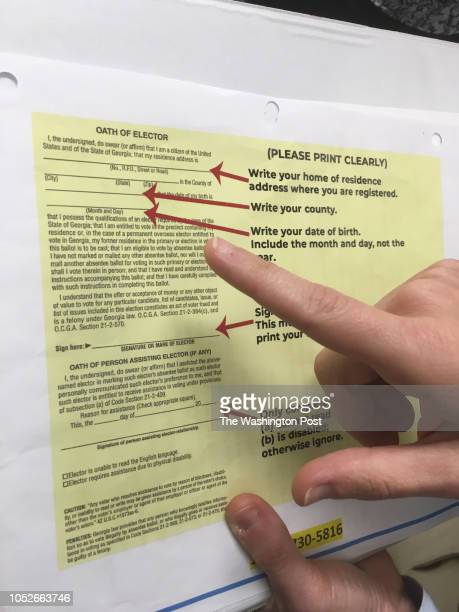 One of the envelopes county registrars are giving voters in Georgia to mail in their absentee ballots