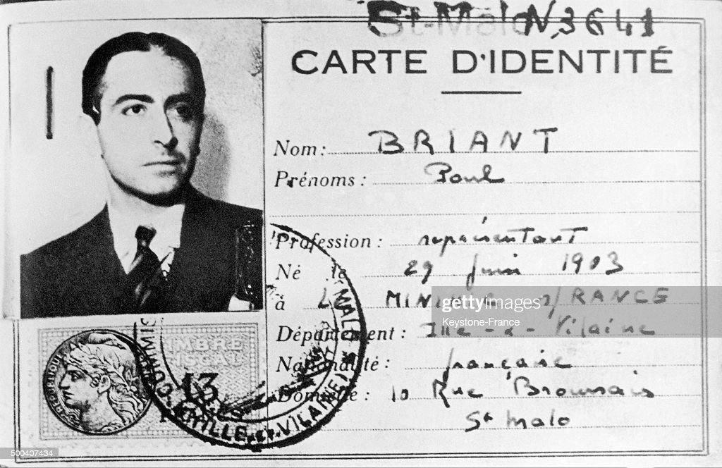 fake identity card of resistance fighter pierre brossolette pictures