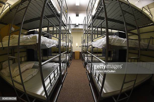 One of the female dormitory rooms at a nuclear bunker site on the Woodside Road industrial estate on February 4 2016 in Ballymena Northern Ireland...