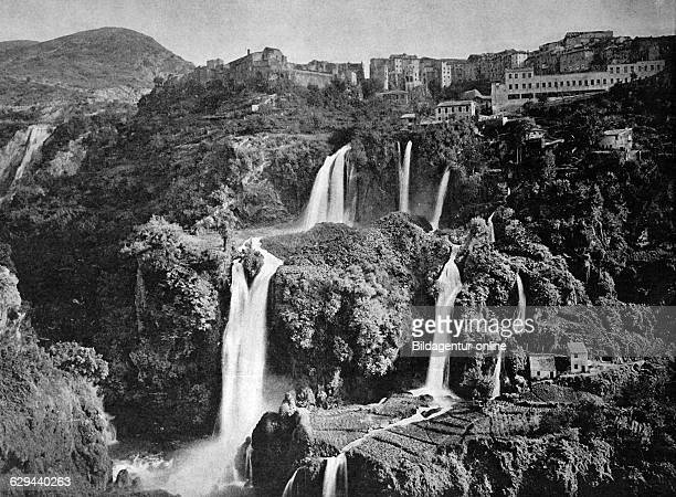 One of the first autotypes from tivoli gardens italy historical photograph 1884