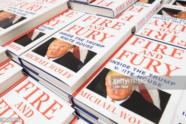 One of the first consignments of copies of 'Fire and Fury' Michael Wolff's book on President Trump's Presidency is displayed at Waterstones...