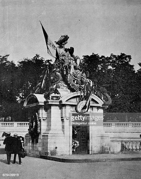 One of the first halftones female statue allegorical figure of strasbourg place de la concorde paris france 1880