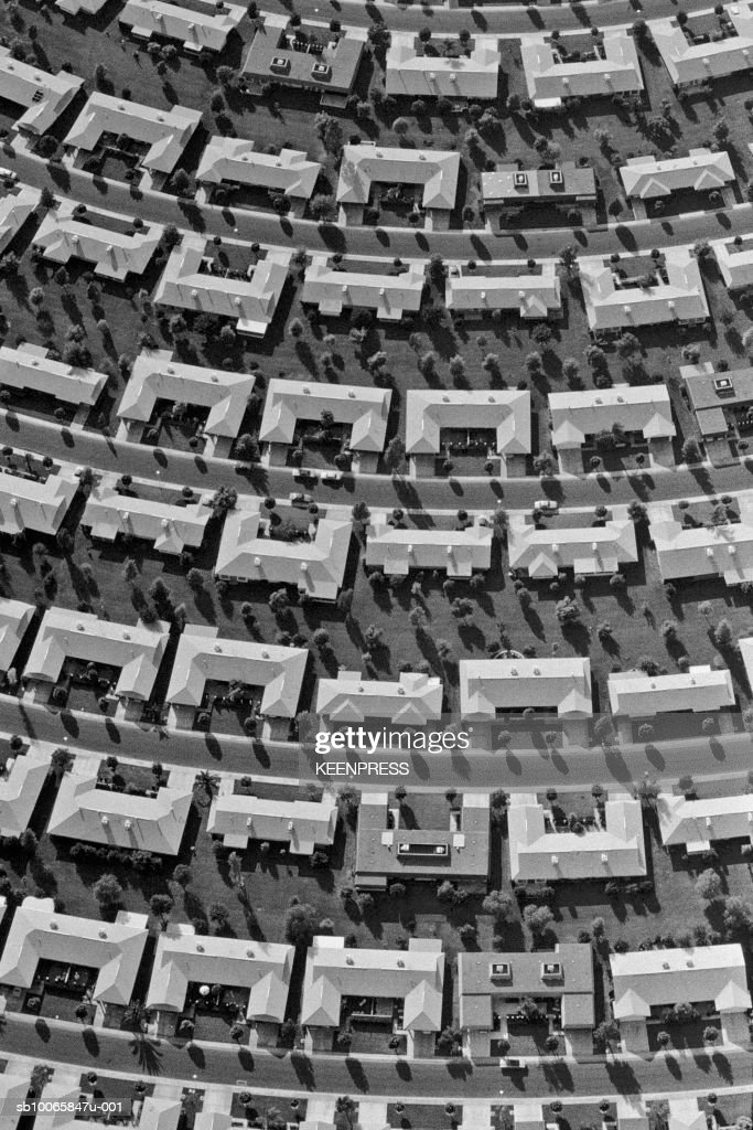 USA, Arizona, Sun City, aerial view of development homes : News Photo