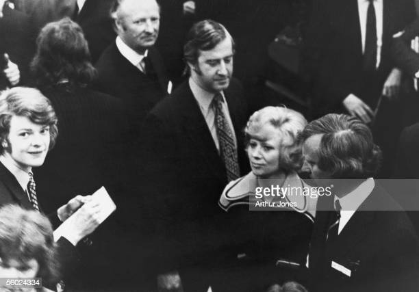 One of the first women to be admitted to the floor of the London Stock exchange, 26th March 1973. Women had been barred from the floor during trading...