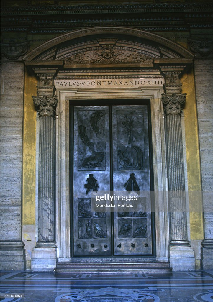 \u0027One of the five doors of Saint Peter\u0027s Basilica the Door of Death made. \u0027 & The Door of Death by Giacomo Manz Pictures | Getty Images