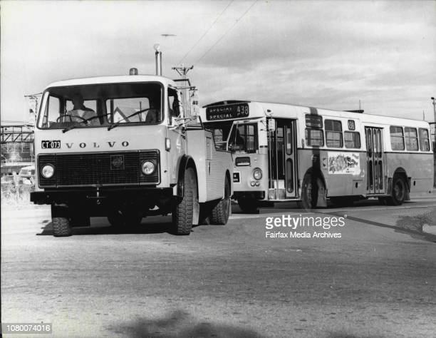 One of the four new Volvo F86 'tugs' takes a disabled PTC bus in tow Uphill starting is made easier by an Allison automatic gearbox June 19 1978