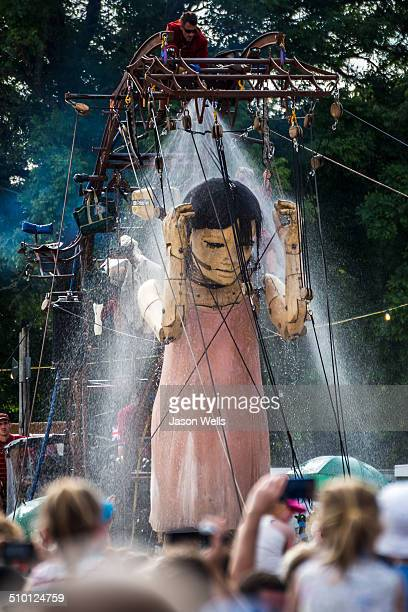 One of the giant marionettes seen at the Memories of August 1914 celebration in Liverpool.