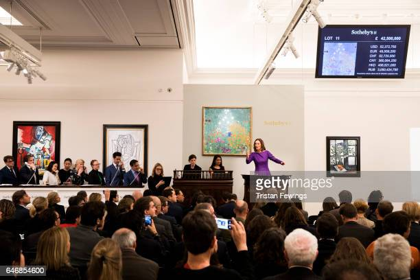 One of the greatest works by Gustav Klimt ever to appear at auction his luminous Bauerngarten sold for £479 million at Sotheby's on March 1 2017 in...