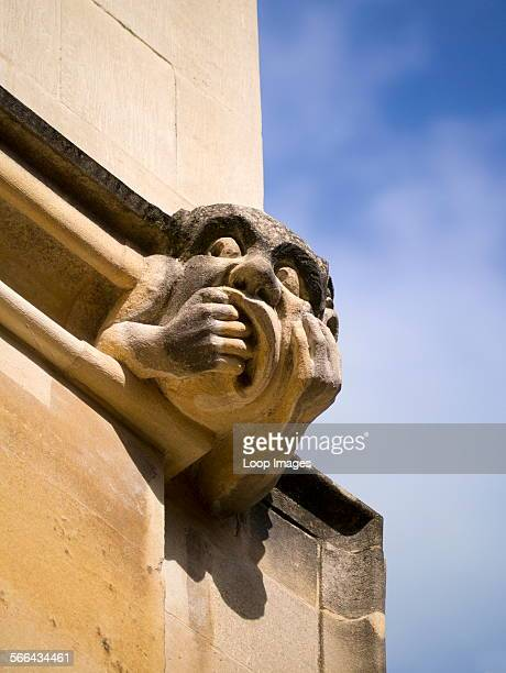 One of the grotesques of Exeter College in Oxford
