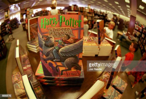 One of the Harry Potter series of books by author JK Rowling's sits for sale in Barnes Noble bookstore July 6 2000 in El Paso TX The fourth book...