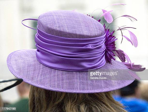 One of the hats on historical Hat Friday for the Kentucky Oaks at Churchill Downs in Louisville Kentucky on May 4 2007