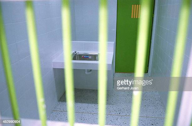 One of the holding cells in the new lethal injection building at Bang Kwang Central Prison