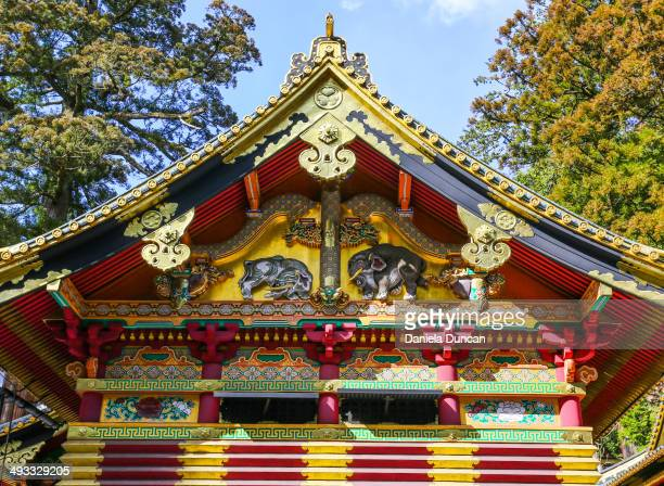 One of the iconic roofs of the Nikko Tosho-gu Shrine. National Treasure of Japan. - Editorial Use Only -