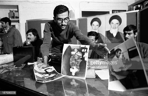 One of the Iranian students kidnapper of 52 Americans held hostages during 444 days from November 4 1979 to January 20 1981 present some pictures of...