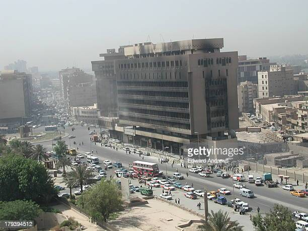 One of the Iraqi Ministry buildings that was bombed during the 2003 Iraq war. This image was shot from the nearby Baghdad City Hall. I was an Army...