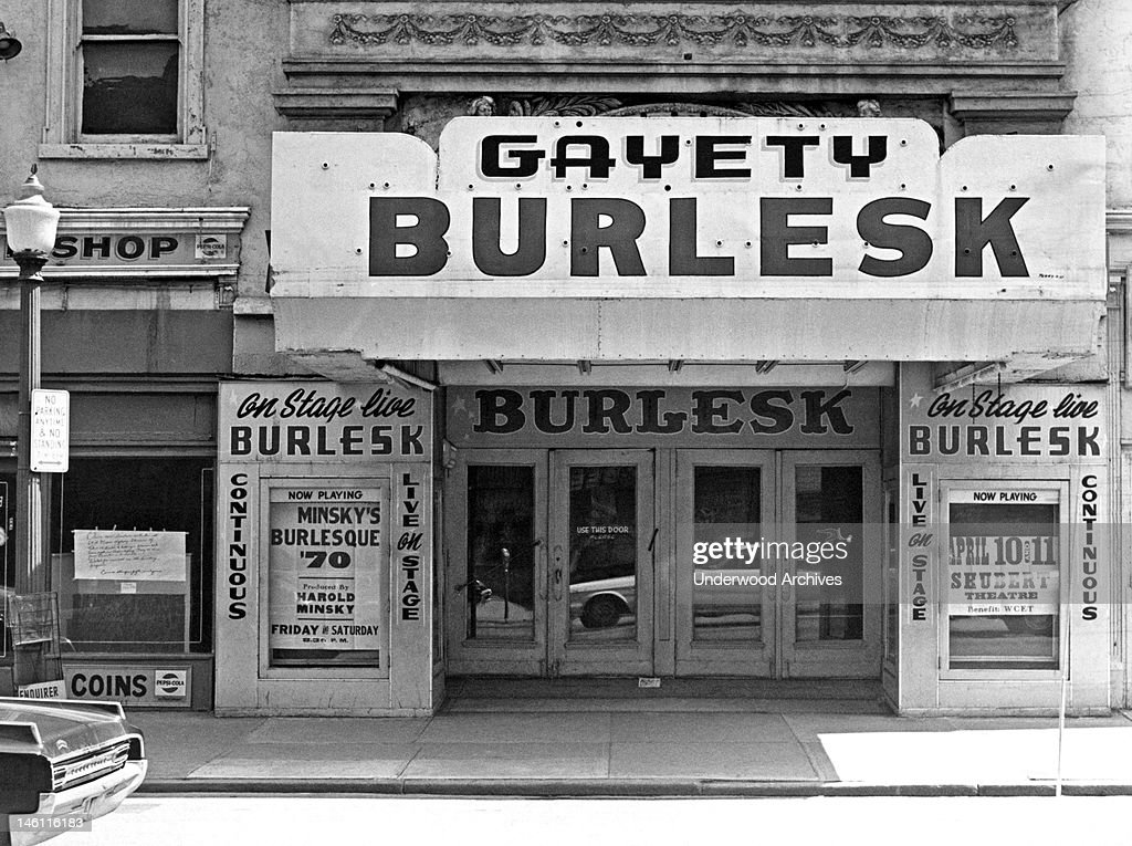 One of the last of the Harold Minsky burlesque theaters, Covington, Kentucky, mid to late 20th century.