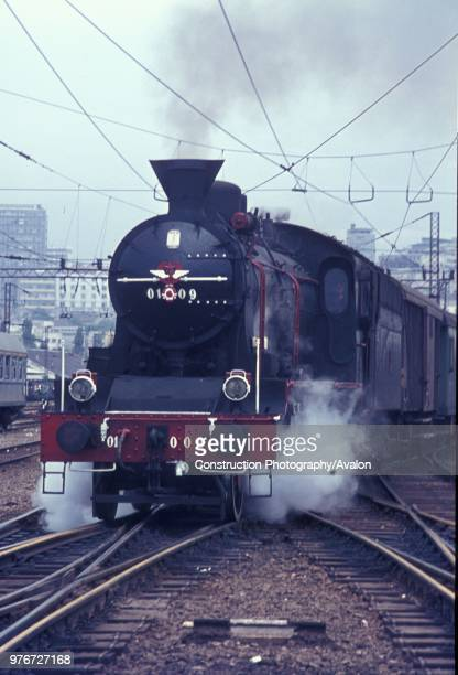 One of the last survivors of the beautiful Serbian 01 Class 2-6-2 departs from Belgrade with a local passenger train on Monday 31st July 1972.