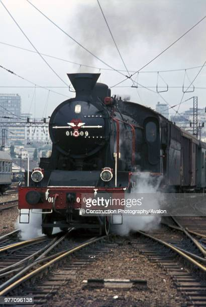 One of the last survivors of the beautiful Serbian O1 Class 2-6-2s departs from Belgrade with a local passenger train on Monday 31 July 1972.