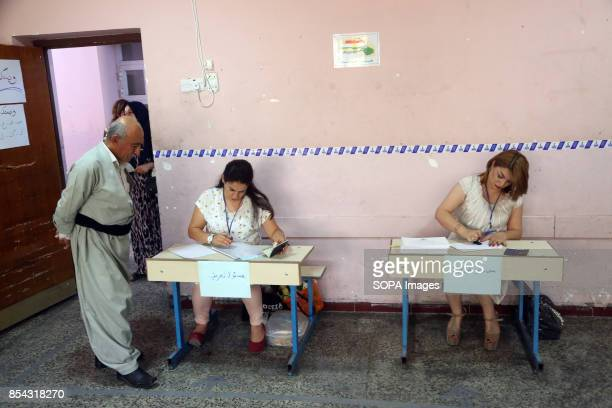 One of the local polls stations September 25 2017 is a historic day for Kurdish people around the world as many Kurdish took part in a landmark vote...