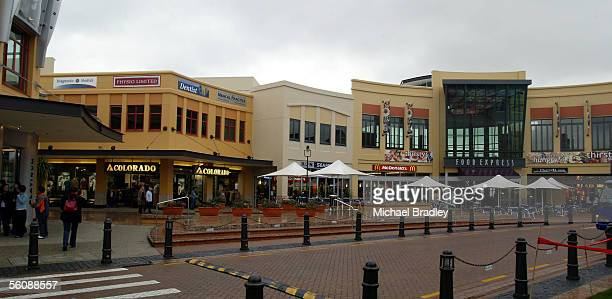 One of the main streets into the Botany Downs Town centre shopping complex in the Howick Botany Downs suburb of east Auckland Thursday