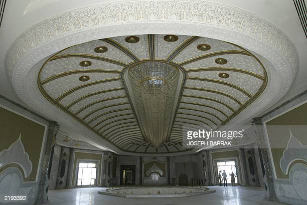 One of the many rooms in toppled leader Saddam Hussein's palace in his hometown of Tikrit 175 kms north of Baghdad 15 July 2003 The former palace now...
