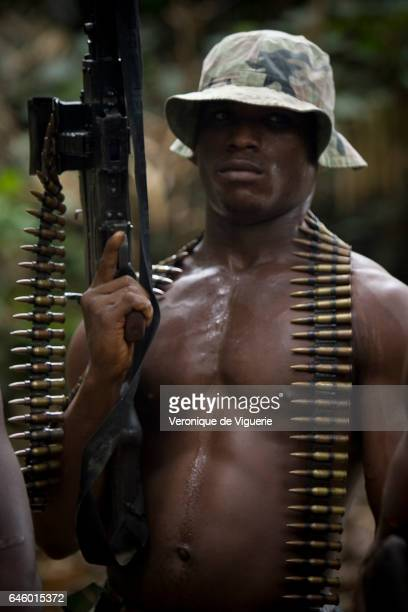 One of the militants working under Ateke Tom the big chief of the MEND in one of the eleven camps he rules in the mangroves of the Niger delta